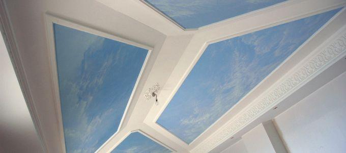 Plafond orné à la Villa l'Echauguette