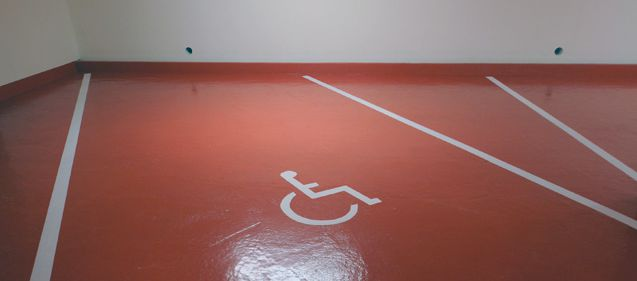 Travaux de peinture au Parking Rainier III